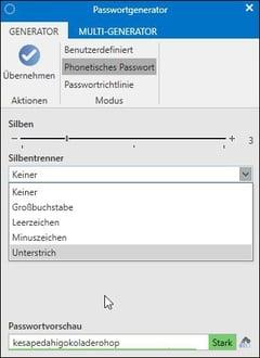 Password Safe Passwortgenerator